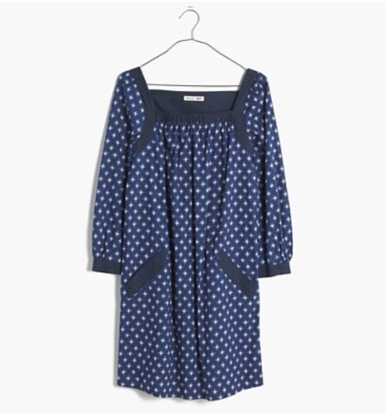 Nuevo con etiquetas Madewell X Daryl K ® Bonnie  Impresión-Mezcla Vestido Talla S  Envío 100% gratuito