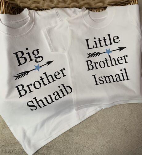 Big Brother Little Brother Or Sisters Send Name Size 6//12m 1//2y 2//3y 3//4y 5//6y
