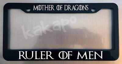 Mother Of Dragons Ruler Of Men Game of Thrones Fans Chrome License Plate Frame