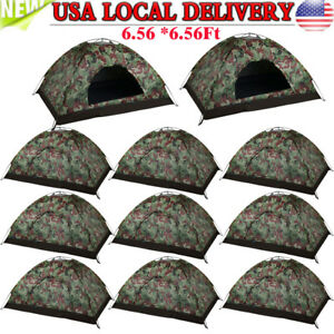 3-4 Person Outdoor Camping Waterproof Folding Hiking Tent Camouflage/Blue LOT BP