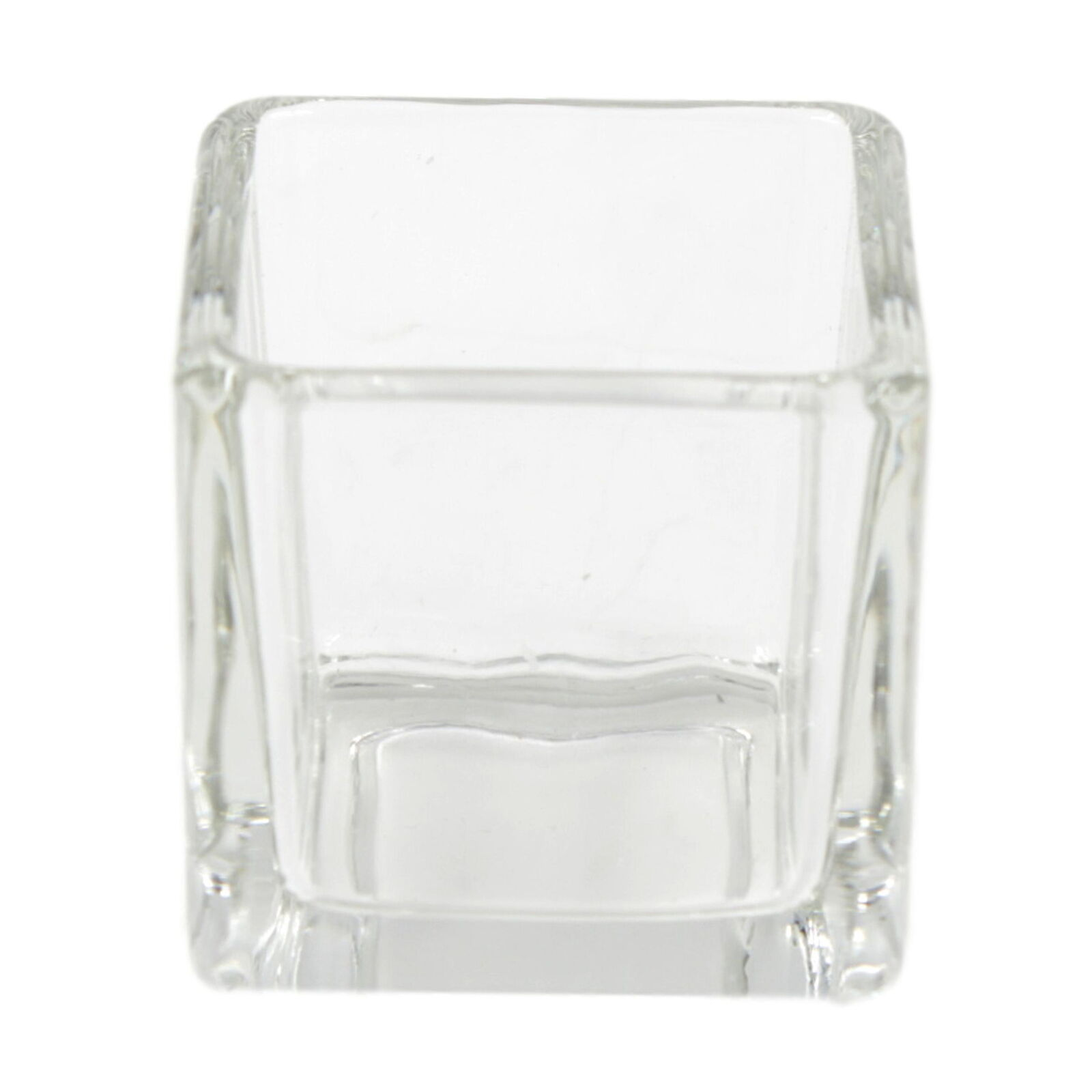 Beautiful Simple Clear Glass Tea Light Votive Holders Square Wedding Table Party