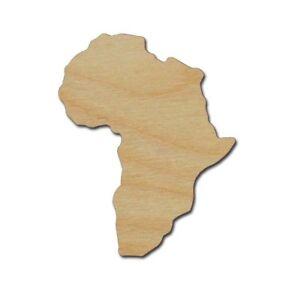 Africa-Shape-Unfinished-Wood-Cutout-Variety-Of-Sizes