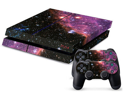 Mysterious DEEP SPACE Sticker for Playstation 4 PS4 Console + 2 Controller Skins