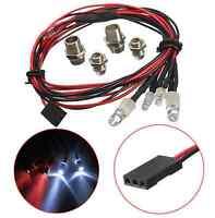 4pcs 1:10 RC On-Road Model Drift Car LED Night 8mm&5mm Headlamps Tail Head Light