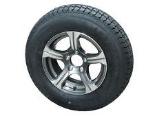 "AM01G 175/80D13 LRC Loadstar Bias Trailer Tire on 13"" 5 Lug Aluminum Wheel"