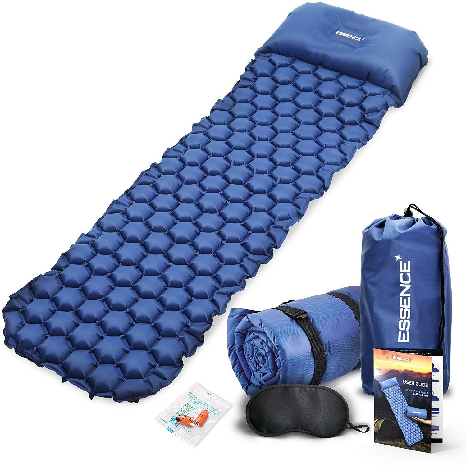 Sleeping Mat with Pillow-Ultralight  Self Inflating Camping Mattress Roll  hastened to see
