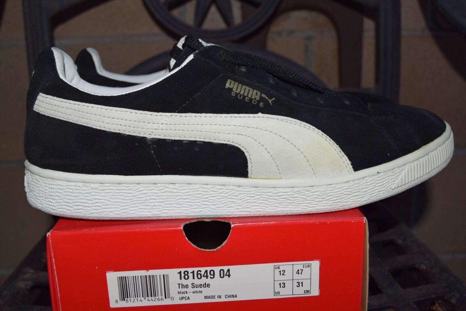 Ds 2007 puma suede originale der der der schwarz - weiß - größe. 293c26