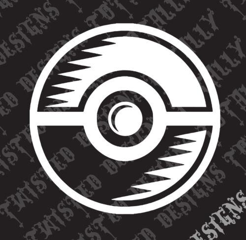 Poke Ball car truck vinyl decal sticker cool Pokemon pokeball pikachu
