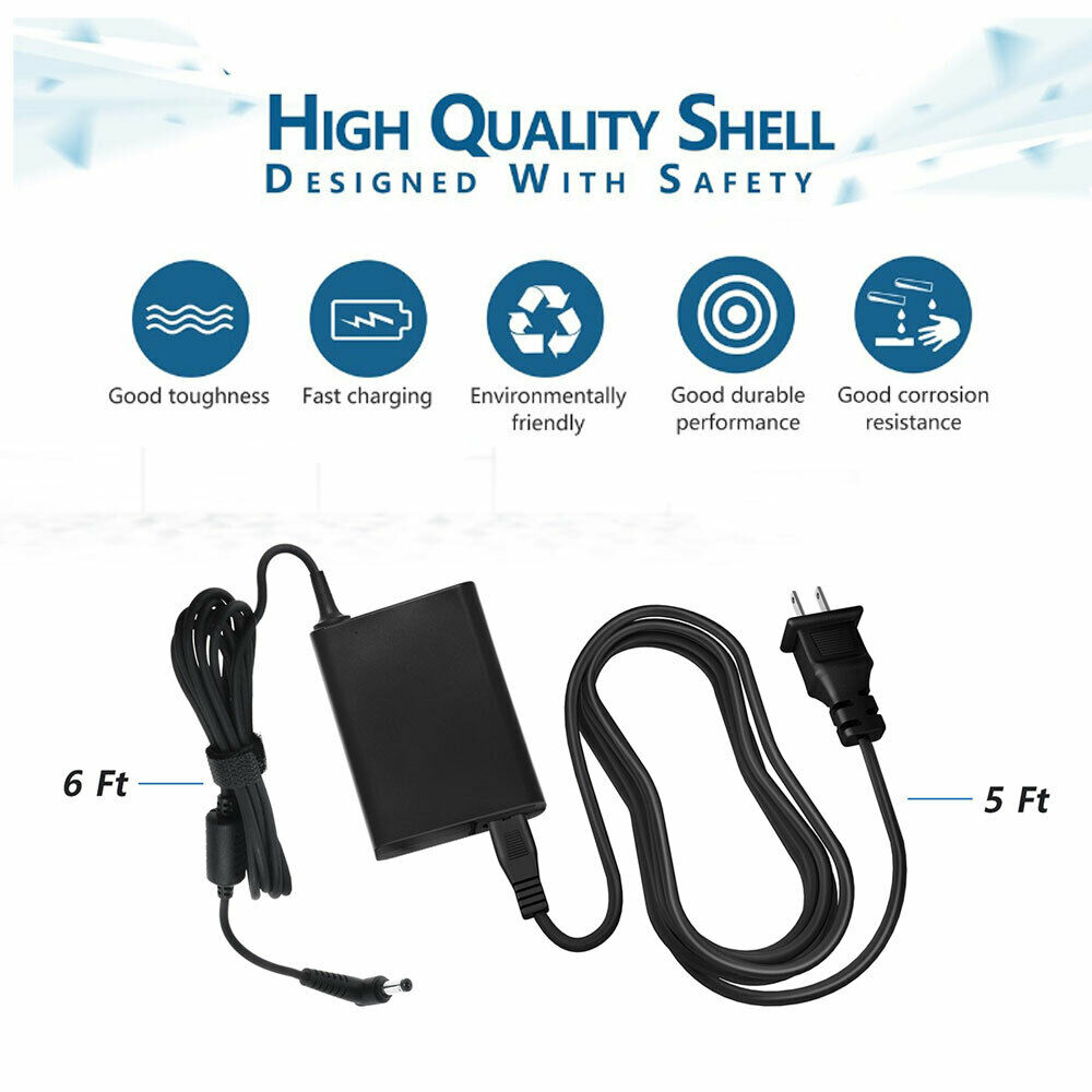 PwrON 12V 5A AC Adapter for Viewsonic ADPC1260AB LCD Monitor Charger Power Cord