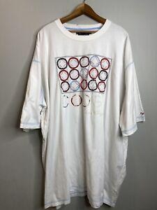 Vintage-COOGI-Tee-Shirt-Groesse-5xl-weiss-Rundhalsausschnitt-Kurzarm