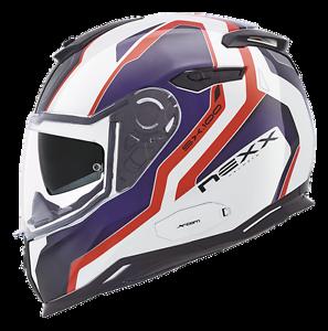 Nexx-SX-100-Blast-White-Red-Blu-Full-Face-Motorcycle-Helmet-LIKE-HJC-IS-17