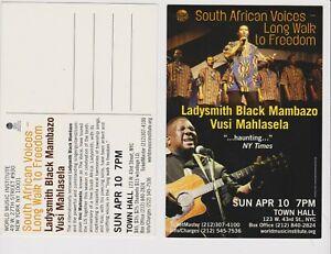Ladysmith Black Mambazo Vusi Mahlasela Promo Glossy two sided post Card