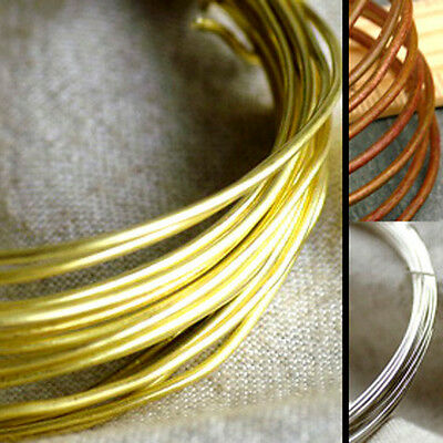 Brass Wire Beading Wire Finding Cord 24-16gauge (0.6-1.6mm) Silver Plated Hard