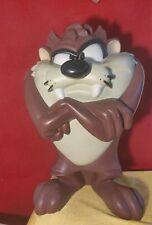 "1996 WARNER BROS LARGE 19"" RESIN TAZ Tasmanian Devil FIGURE Statue Looney Tunes"