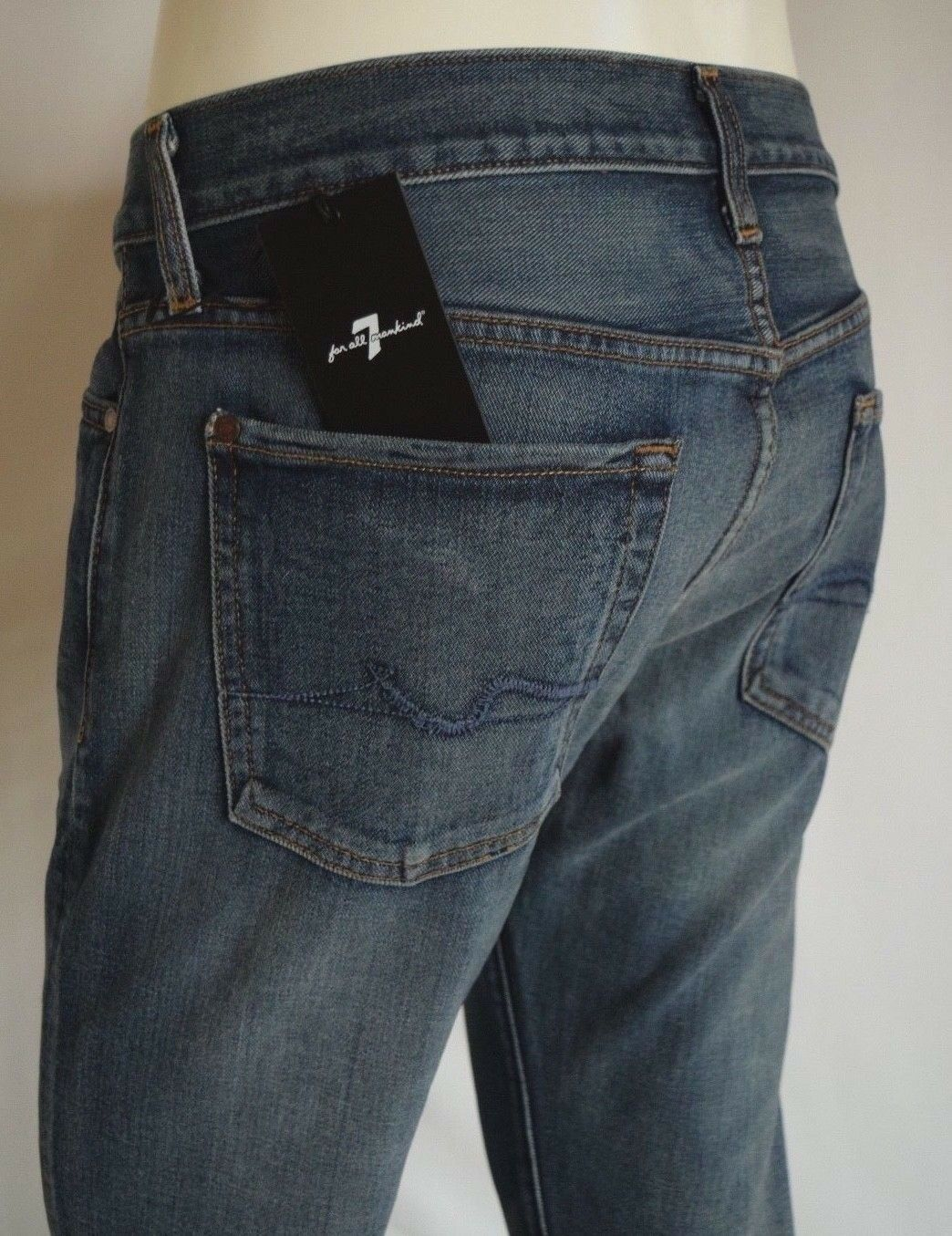 Seven 7 For All Mankind STANDARD STRAIGHT Jeans Men SZ 33 HERITAGE MEDIUM blueE
