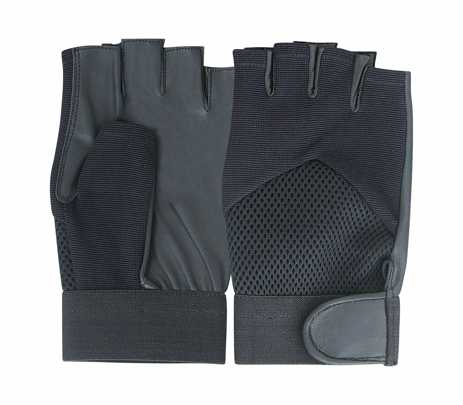 Black Bus Cycling Driving Fingerless Gloves DURABLE! XS - XXL | Free Postage UK
