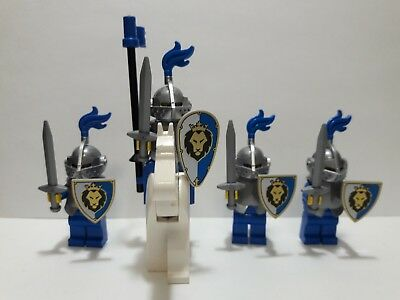 Lot of 4 LEGO Blue & Silver Classic Knights Minifigures with Horse (Lot  1A321) | eBay