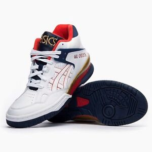 taille 40 09cbd dbbdc Details about ASICS GEL SPOTLYTE H447L-5201 BASKETBALL SHOES WHITE/MULTI  COLOR 100% AUTHENTIC
