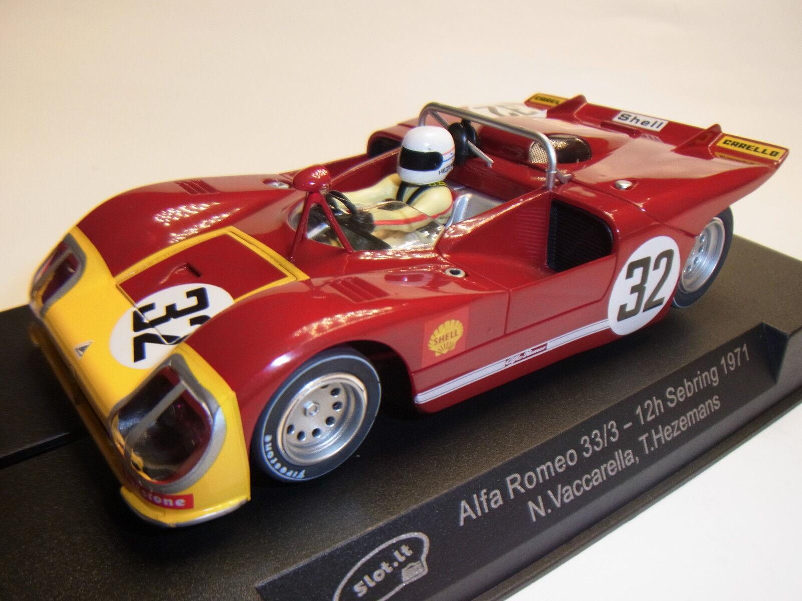 Slot  Alfa Romeo 33 3 12h Sebbague  32  1971 Circuit Roucravater Électrique 1 3 2 de  vente en ligne