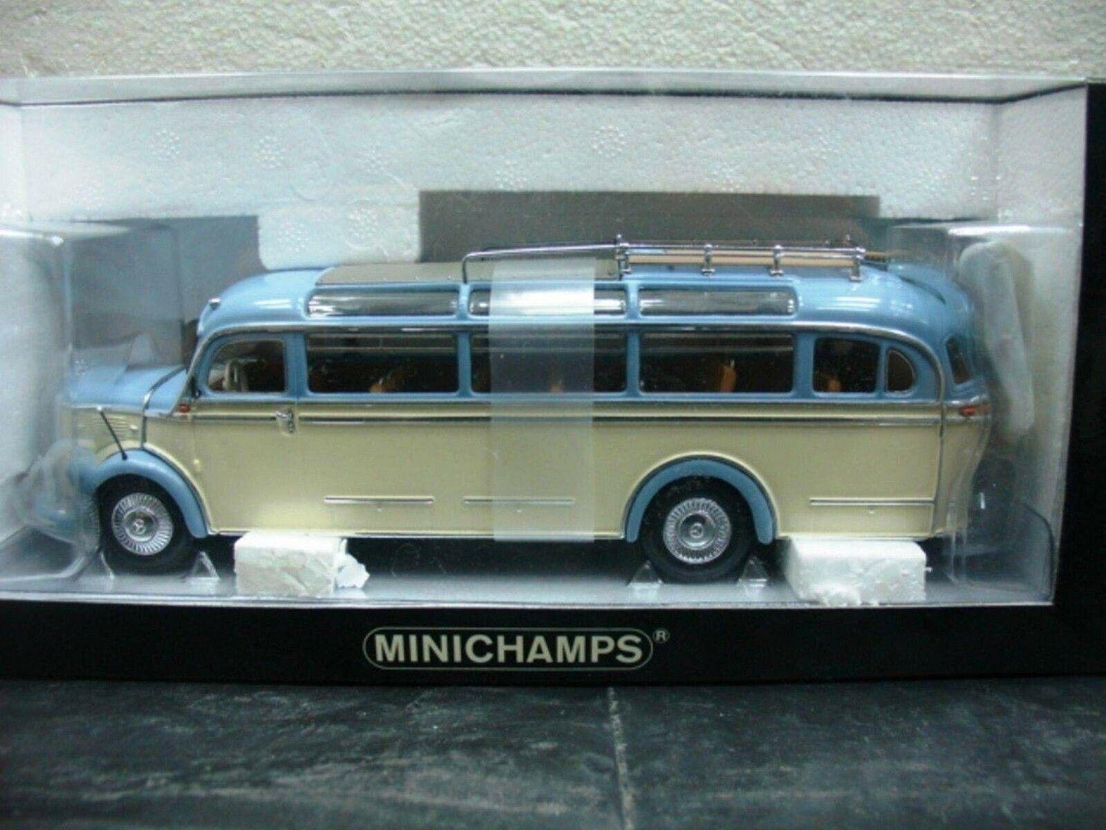 WOW EXTREMELY RARE  Mercedes O 3500 Bus Pastel bleu Ivory 1 43 Minichamps-317 321  le dernier
