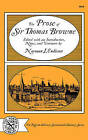 The Prose of Sir Thomas Browne by Thomas Browne (Paperback / softback, 1972)