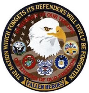 """PATCH """"In Memory Of Our Troops"""" 5"""" Version"""