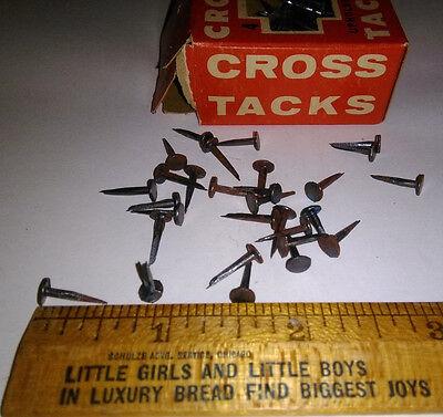 1 Box 1961 CROSS #4 Upholstery Tacks ~ 7//16 TINY /& RUSTY ~Primitive Arts//Crafts