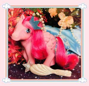 ❤️My Little Pony MLP G1 Vtg 1984 Heart Throb Wings Pink Pegasus Glitter Hearts❤️