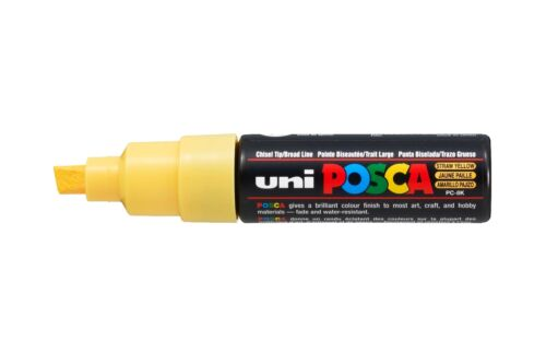 Posca Paint Marker PC-8K 8mm Pen Fabric Metal Glass Broad Nib *34 Colours*
