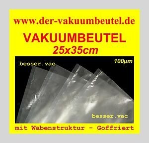 200 St. Vakuumbeutel Goffriert 25 x 35 cm Wabenstruktur für Bartscher, Magic Vac