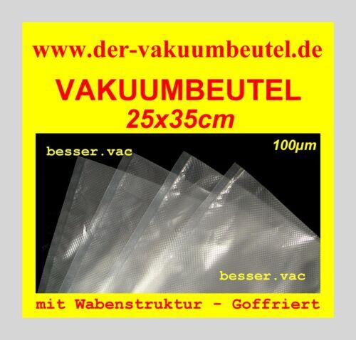 sacs sous vide goffriert 25 x 35 cm ajourées structure par exemple pour solis Genius 200 st