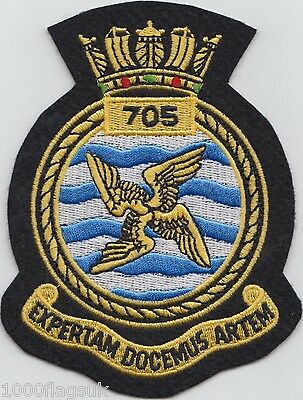 705 Naval Air Squadron Royal Navy Embroidered Crest Badge Patch MOD Approved