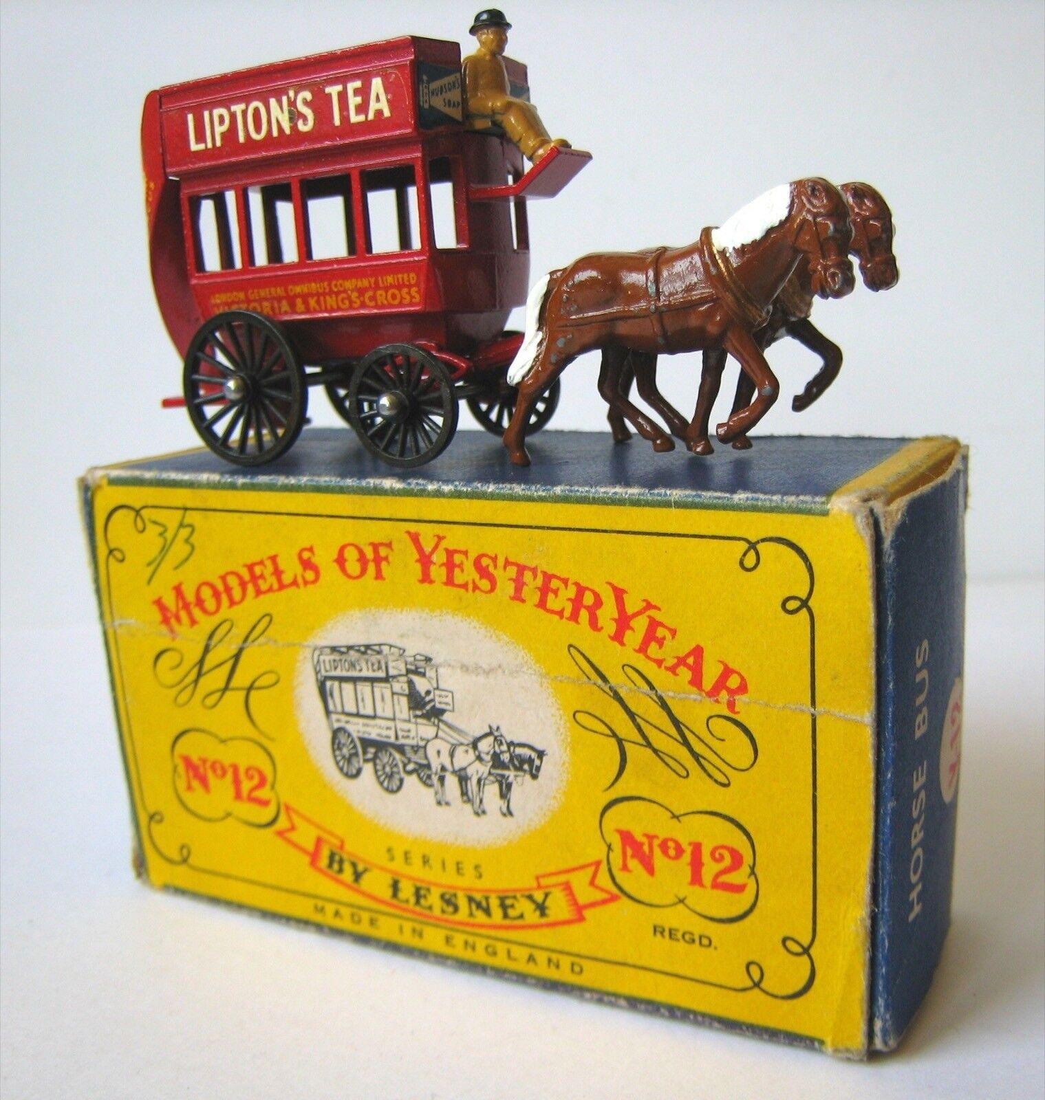 Matchbox - lesney, modell von vorgestern, y-12, london pferd bus 1898, unbespielt,