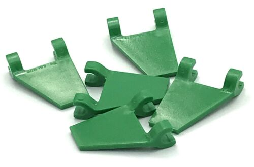 Lego 5 New Green Flags 2 x 2 Trapezoid Pieces Parts