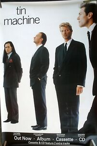 DAVID-BOWIE-TIN-MACHINE-1989-VINTAGE-ORIG-MUSIC-RECORD-STORE-HUGE-PROMO-POSTER