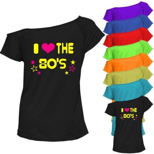 Ladies I Love 80s Retro T Shirt  Tee 1980s Pop Star Dress Party Top 6021725®