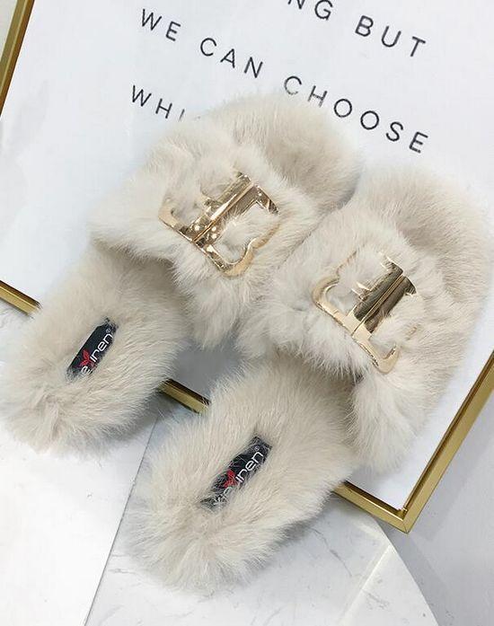 Stivali ciabatte sabot bianco morbide calde pelo pelo pelo pelliccia simil pelle 1464 f2bb10