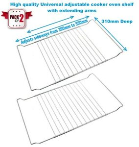 Details About Cooke Lewis 2x Universal Adjustable Oven Cooker Shelf Rack Grill 390 To 550mm