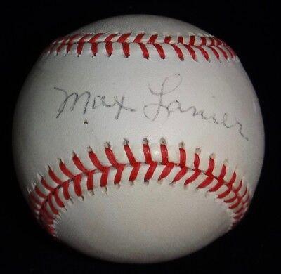 Sports Mem, Cards & Fan Shop Max Lanier 2x World Series Champ Signed Baseball Autographed Ball Psa/dna C64065 Balls