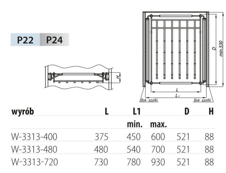 Schrankauszug Hosenhalter Hosenauszug ausziehbar für Schrankbreiten Schrankbreiten Schrankbreiten 54 -70 cm | ein guter Ruf in der Welt  | Verkauf Online-Shop  f28c0e
