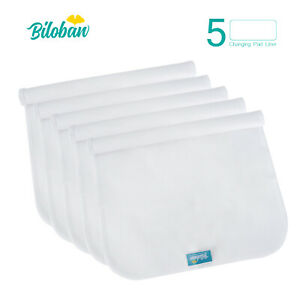 Infant-Soft-100-Cotton-Baby-Diaper-Changing-Pad-Cover-Liner-Waterproof-5-Pack
