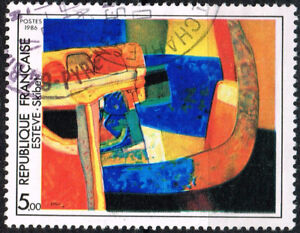 Details About France Art Maurice Esteve Famous Abstract Painting Stamp 1986
