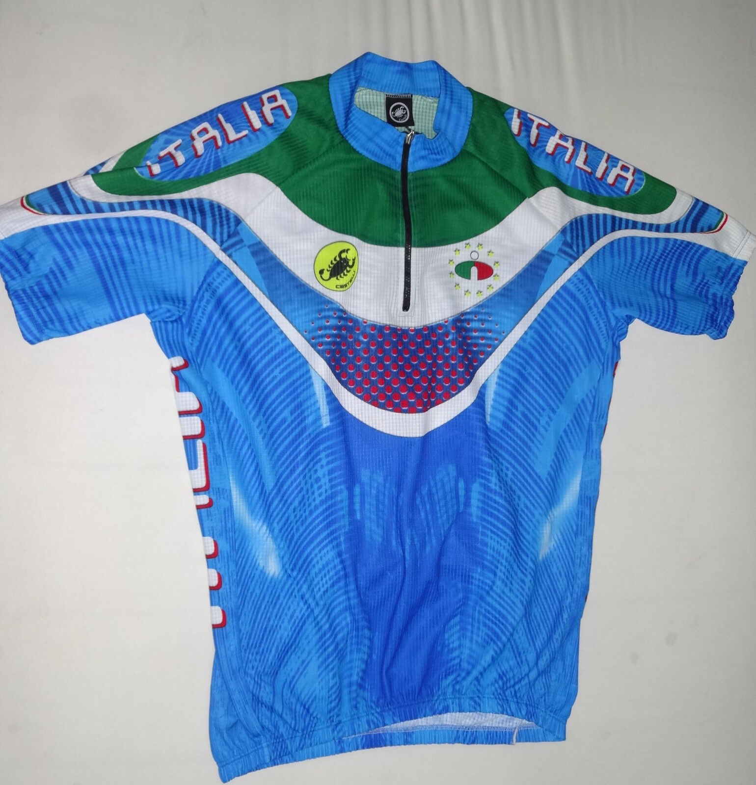 Castelli Italia Rennrad Fahrrad Mountainbike Rad Trikot Gr. XXL in Blau