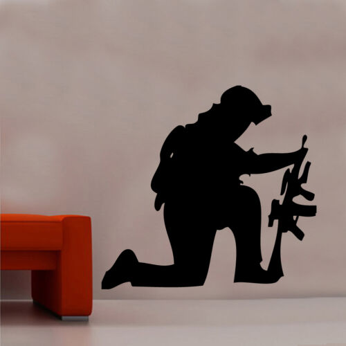 The Soldier Wall Stickers Army War Memrobillia Décor Boys MILT10