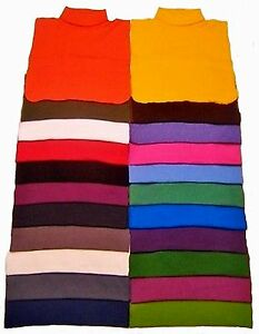 MOCK NECK DICKIES 100% COTTON MADE IN USA DIRECT FROM MANUFACTURER FREE SHIPPING