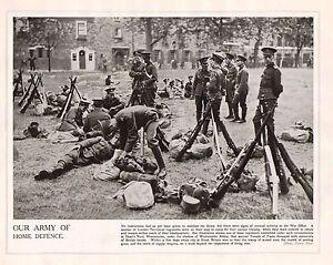 1914 Imprimé Première Guerre Mondiale ~ Londre Territoriale En De Dean Coudée Af9ksfkm-07231335-558743121