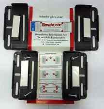2 Kennzeichenhalter Rahmenlos Schwarz Nummernschildhalter 1 Set 4 Klipse