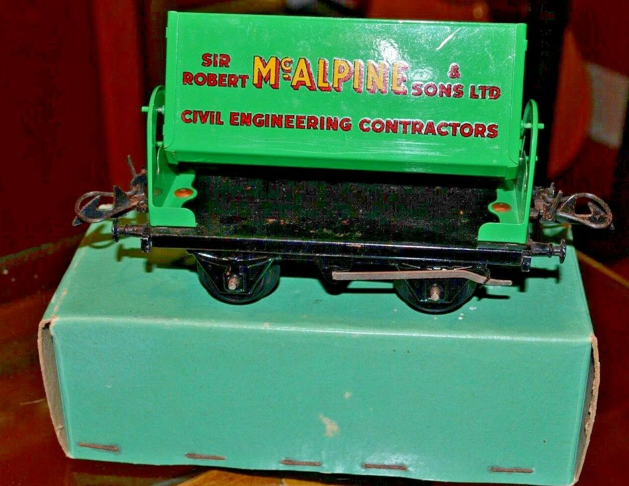 Vintage Boxed Hornby Trains O Gauge McAlpine Side Tipping Wagon No. 50;Near Mint