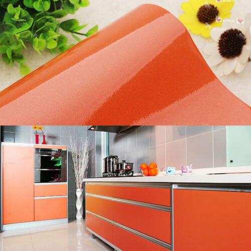 Vinyl Wallpaper Roll Self Adhesive Shelf Liner Furniture Wall Stickers Kitchen Home Garden Wallpaper Rolls Sheets