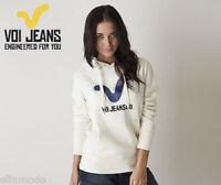 Voi Jeans Womens Ecru Light Brown Beige Keech Hoody Sweatshirt Top Free UK Ship